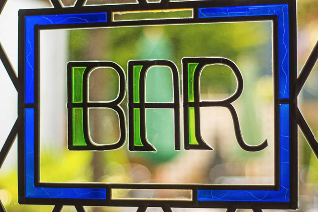 Bar stained glass