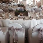 wedding reception dark lilac